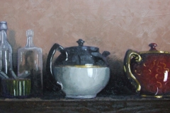 still life with tea pots Darragh Treacy