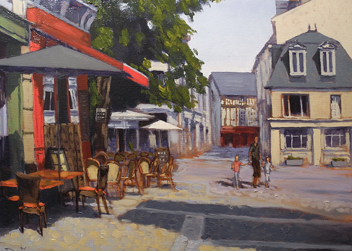 "Afternoon heat, Chinon, 20""x16"", oil on canvas, SOLD"