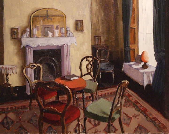 "The Drawing Room, George Bernard Shaw Birthplace, 20""x16"", oil on canvas, SOLD"