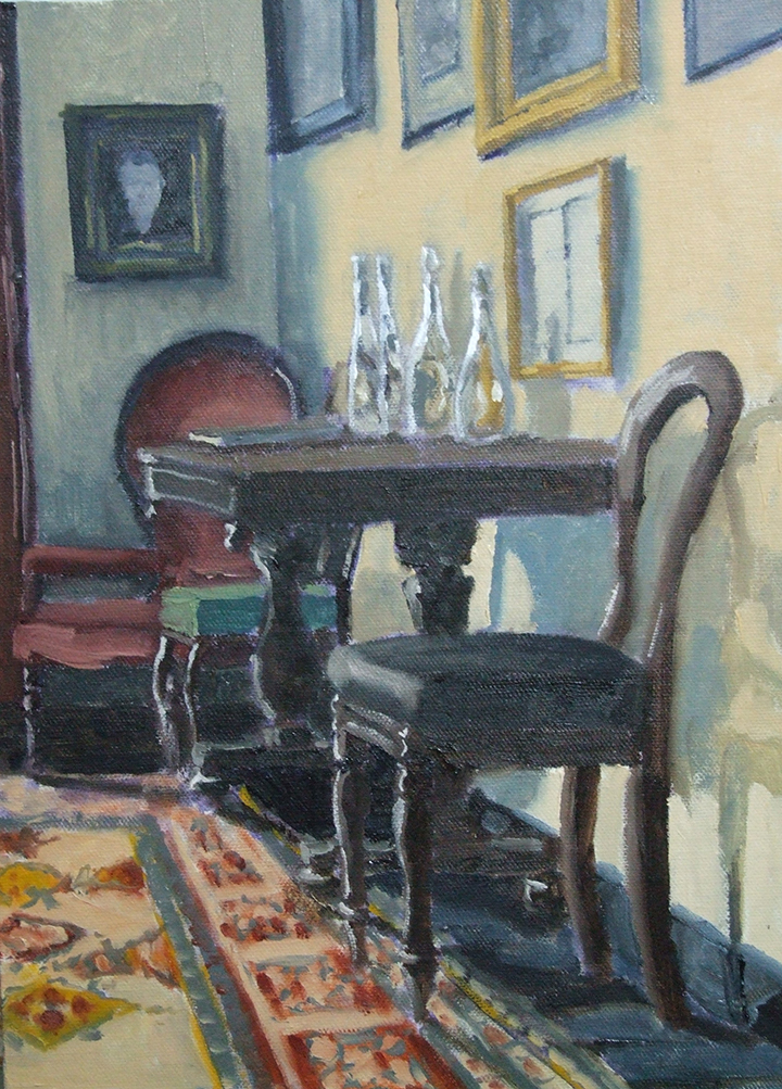 "Drawing Room, George Bernard Shaw Birthplace, 14""x10"", SOLD"