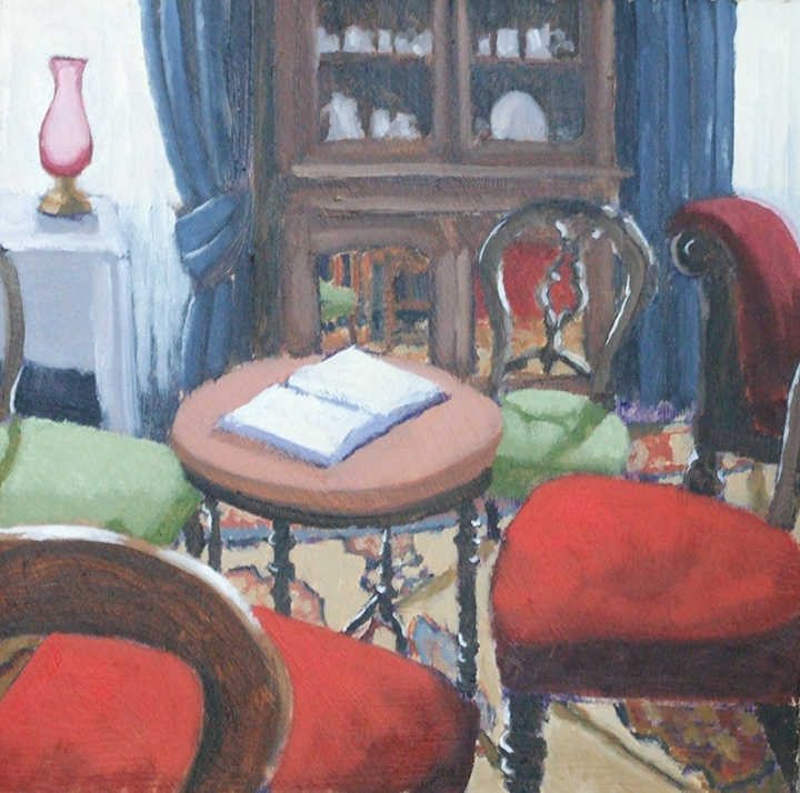 "Drawing Room, George Bernard Shaw Birthplace, 10""x10"", SOLD"