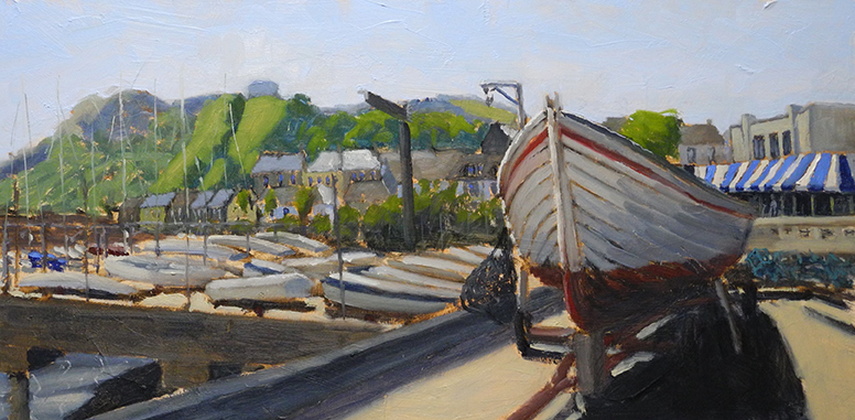 "Howth, 24""x12"", oil on board, €700"