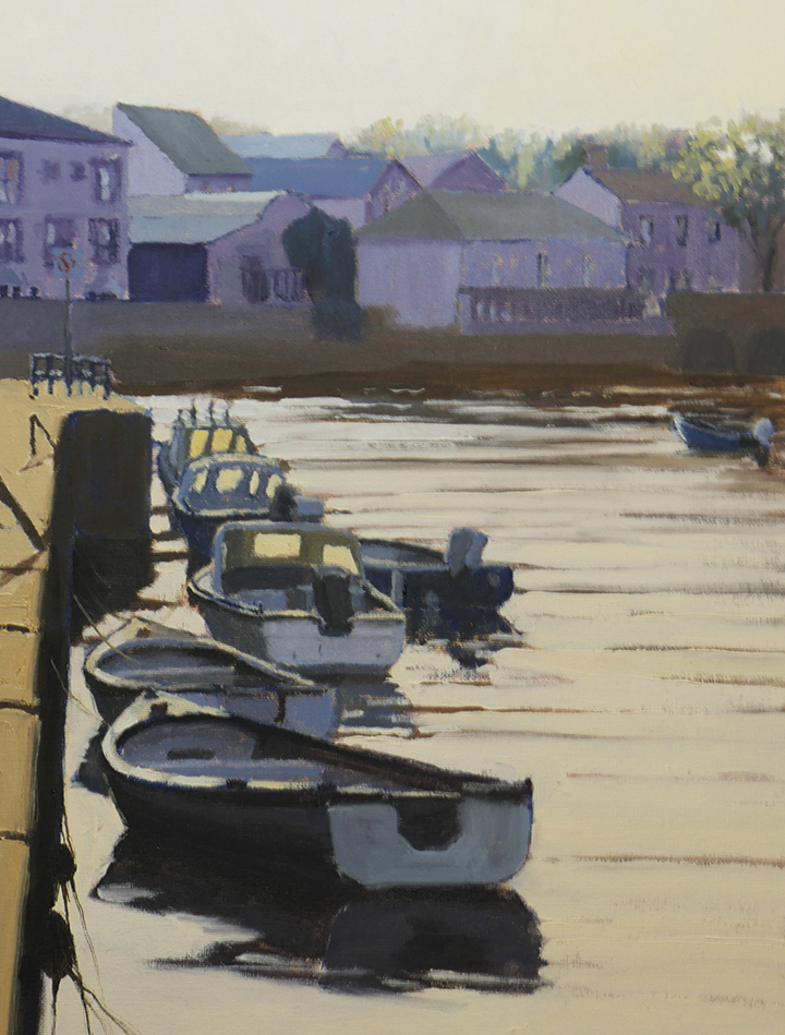 "South Quay Wicklow, 16""x12"", oil on panel, SOLD"