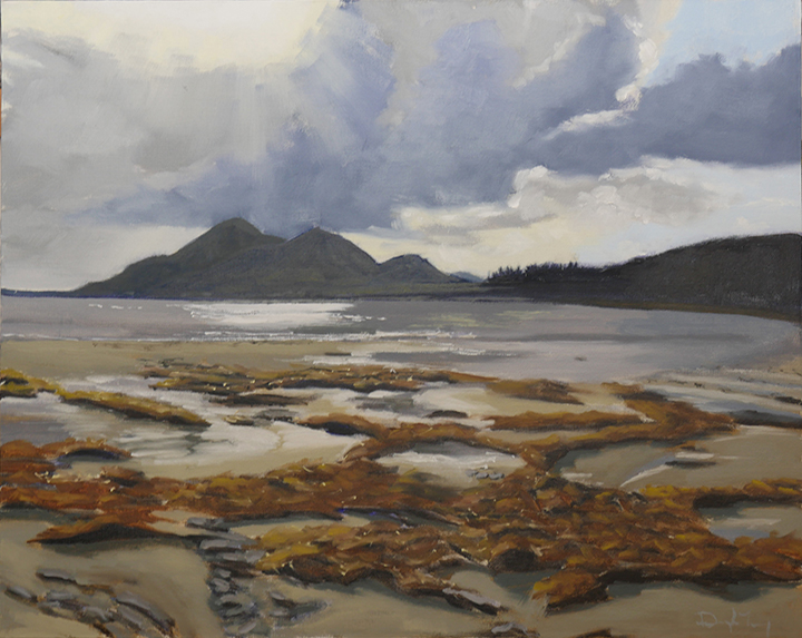 "Passing Weather, view from Old Head, Co. Mayo, 20""x16"", oil on canvas"