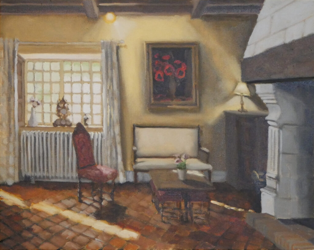 "French Interior, oil on canvas, 20""x16"""